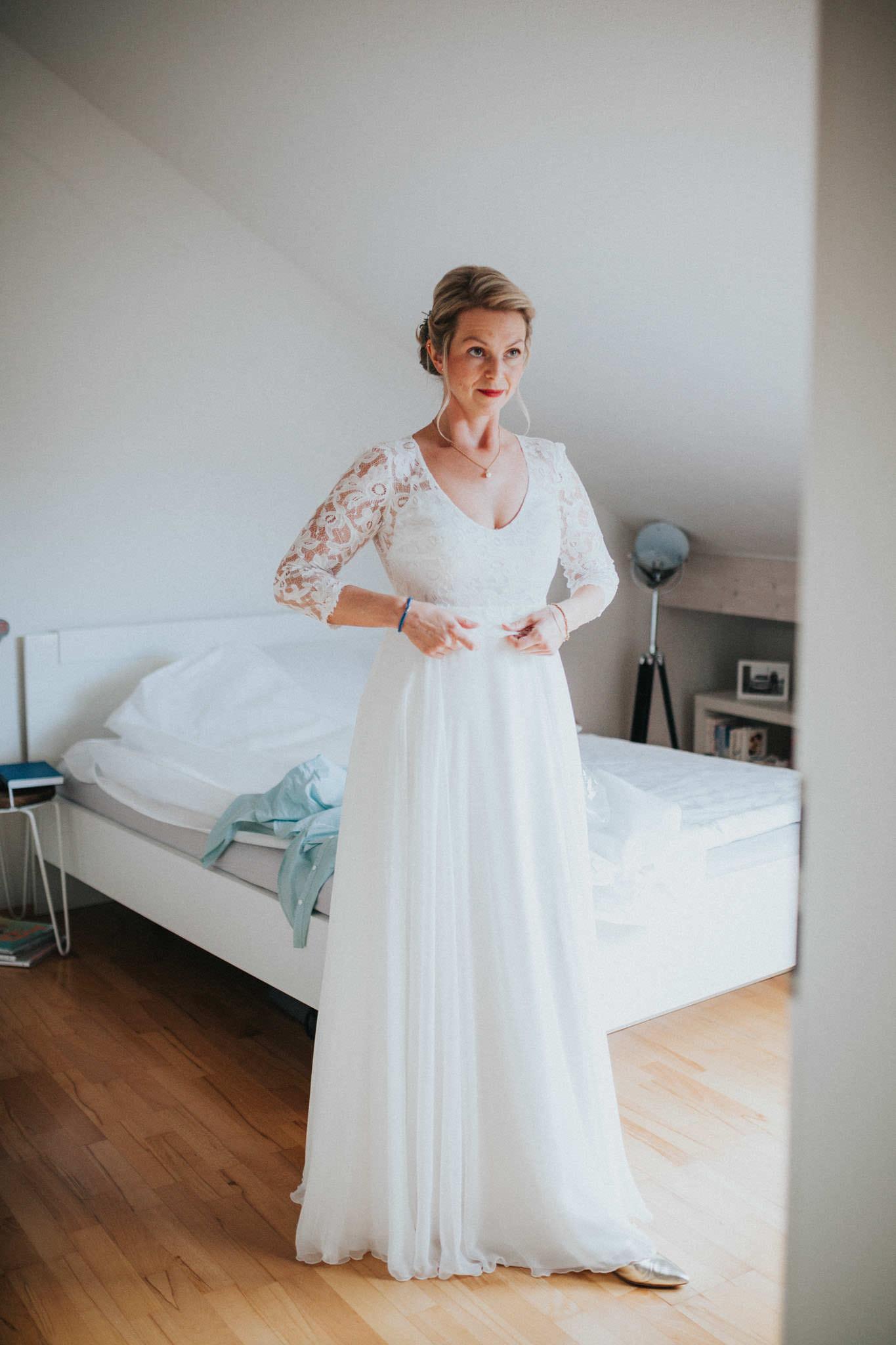 Braut im Brautkleid Marburg
