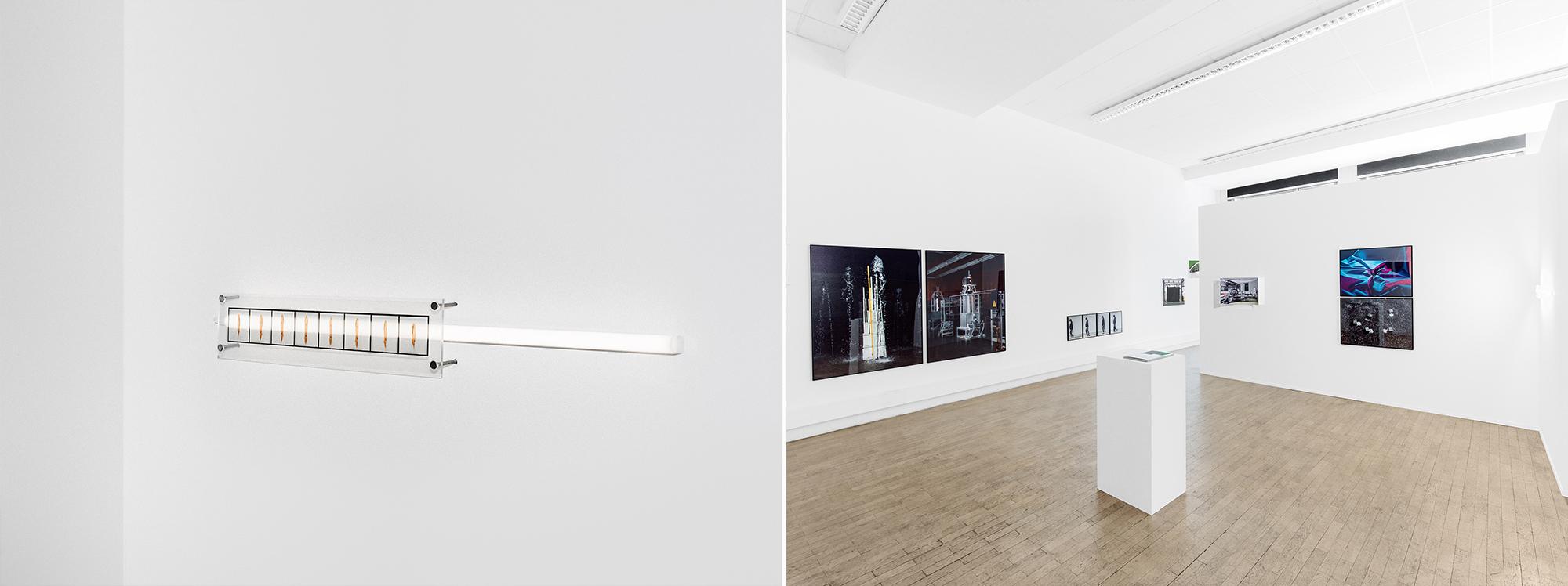 Installationsansicht Werkschau FH Bielefeld SS2018 Lights All Askew In The Heavens Patrick Pollmeier
