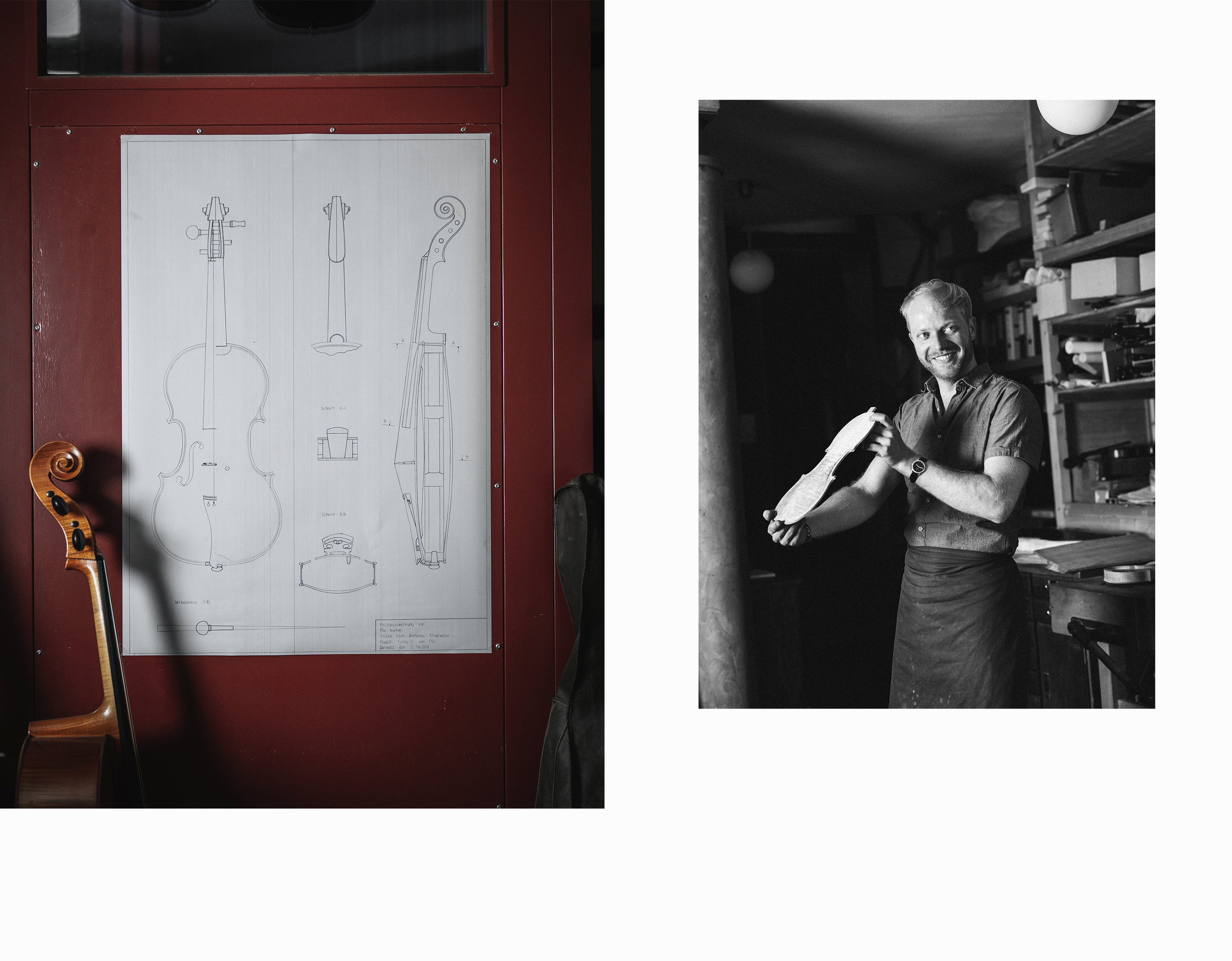 Geigenbaumeister Lukas Kehnen Foto: Patrick Pollmeier