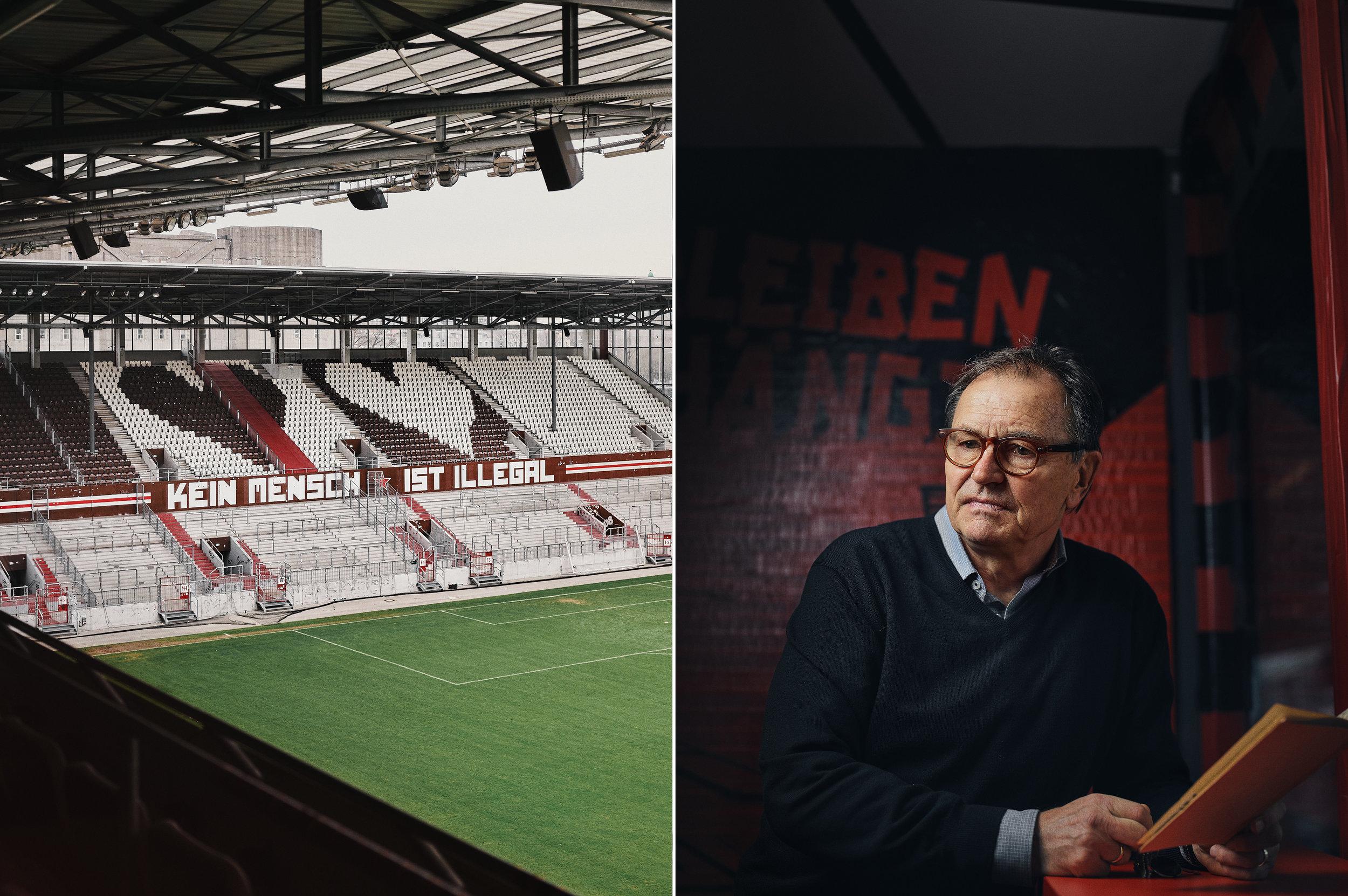 Portrait: Ewald Lienen, St. Pauli Fotografie: Patrick Pollmeier