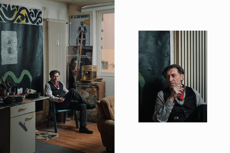 Künstler Radomir in seinem Atelier in Bielefeld. Foto: Patrick Pollmeier