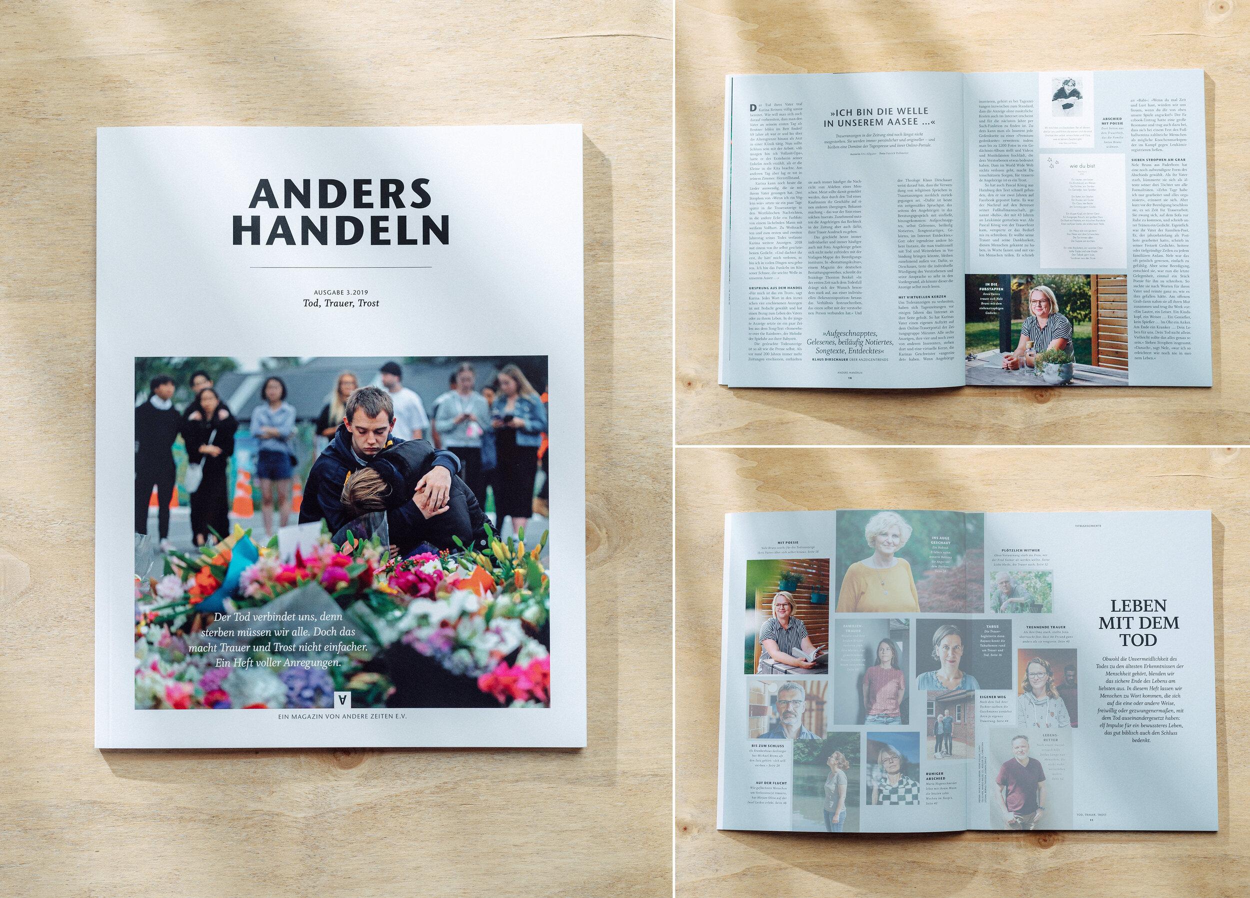 ANDERS HANDELN, 03/19, Tod, Trauer, Trost