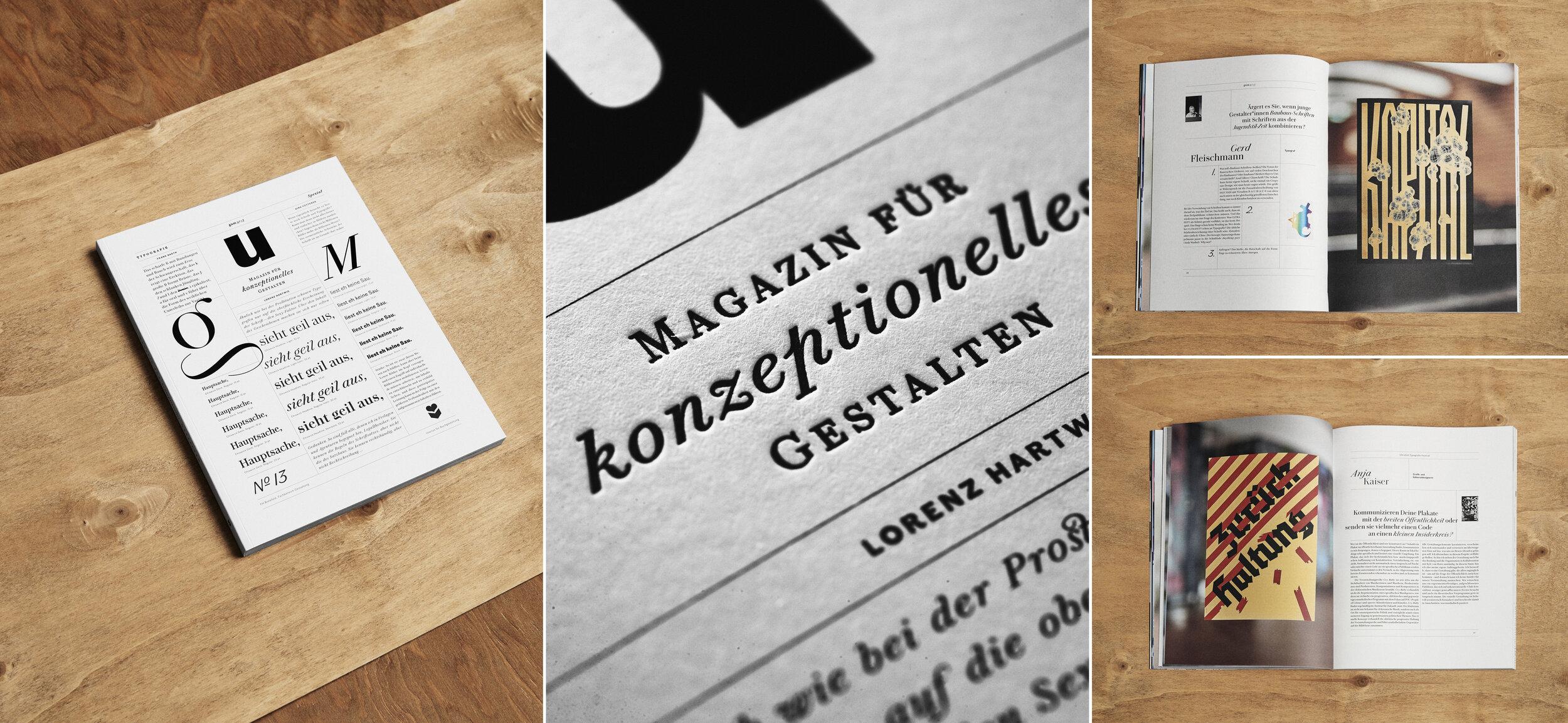 GUM,Magazin für konzeptionelles Gestalten, No13
