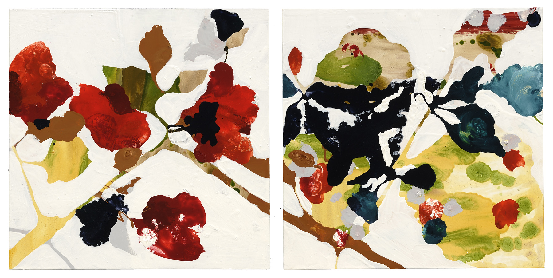 """From the Rock #12, 2012, oil on panel, 12 x 24"""" (2 panels at 12 x 12"""")"""