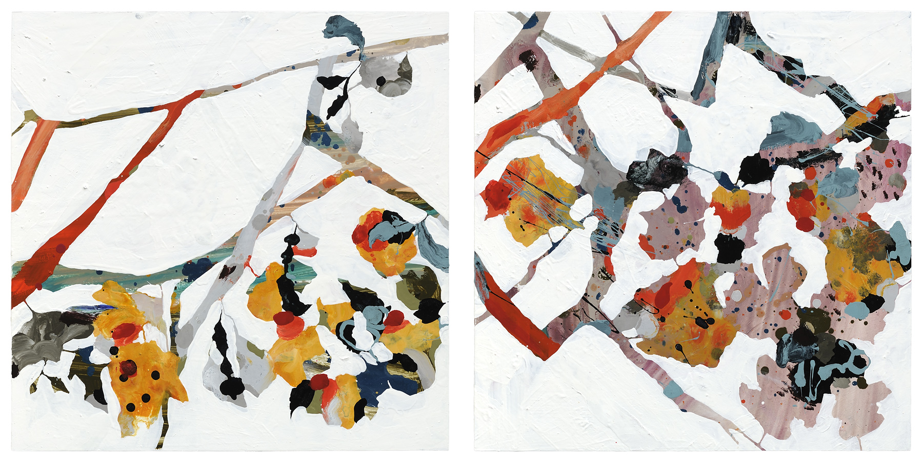"""From the Rock #13, 2012, oil on panel, 20 x 24"""" (2 panels @ 20 x 20"""")"""