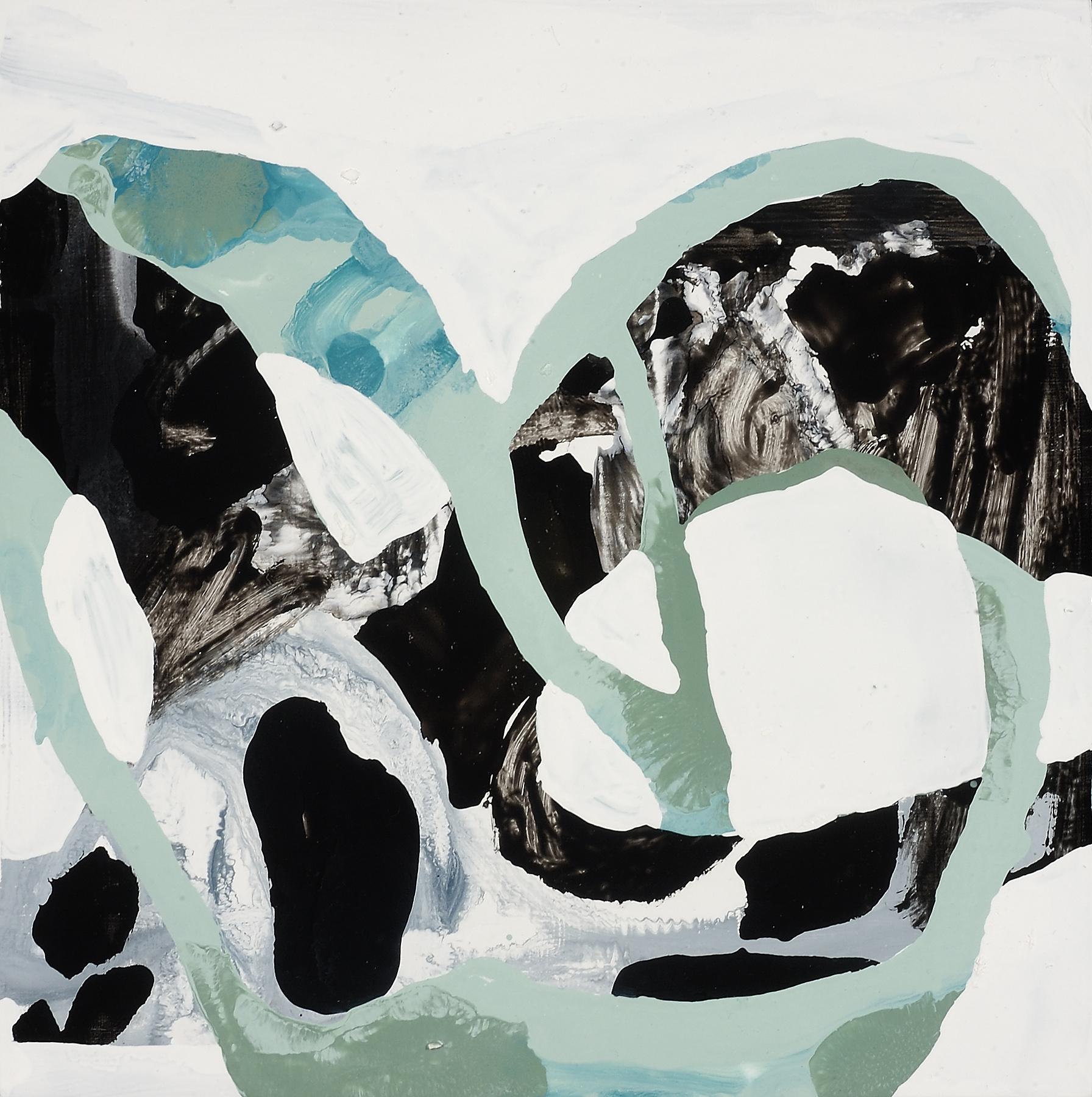 """Panda Hug, 2007, oil on panel, 12 x 12"""""""