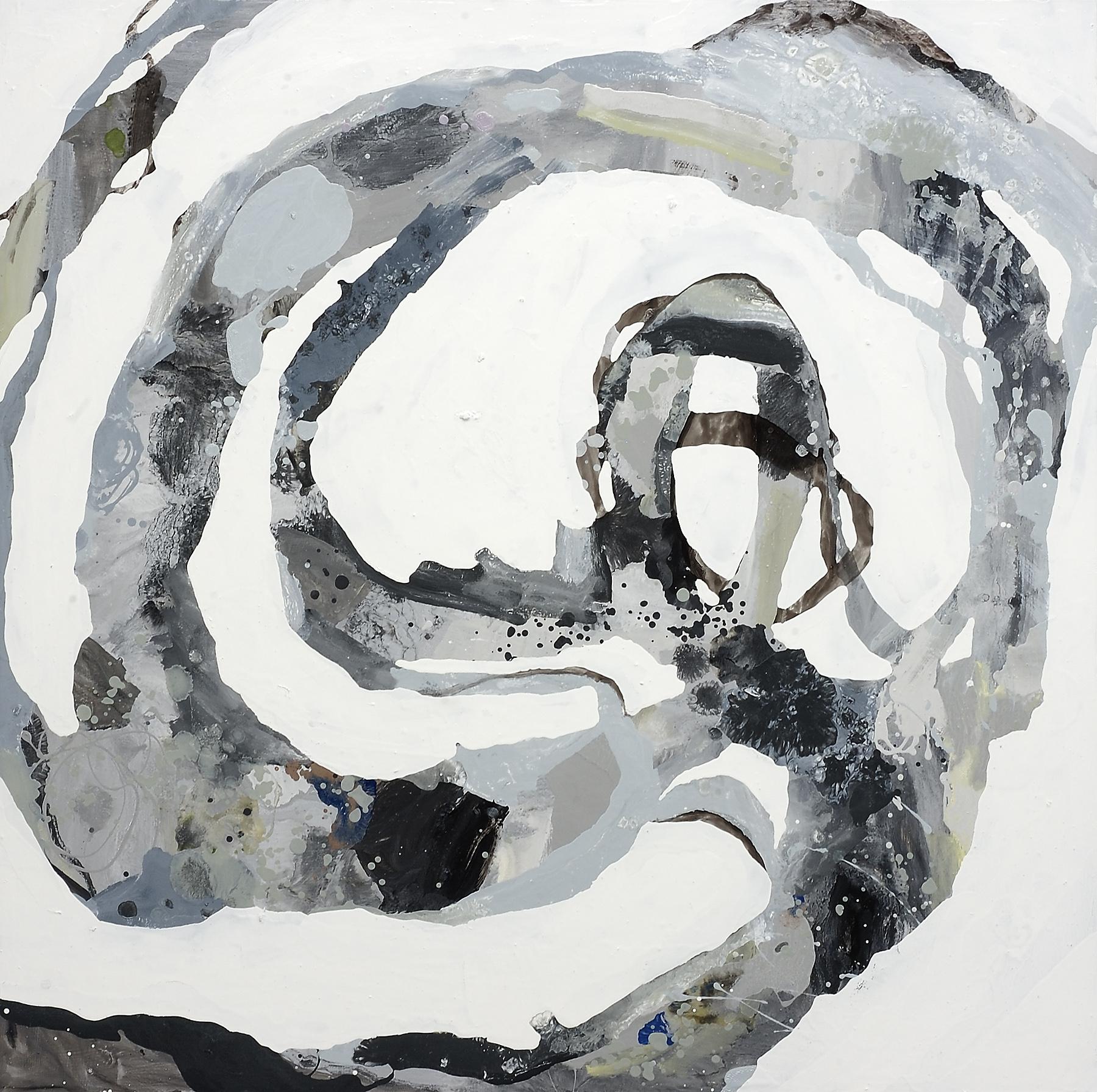 "Around Again, 2007, oil on panel, 36 x 36"""
