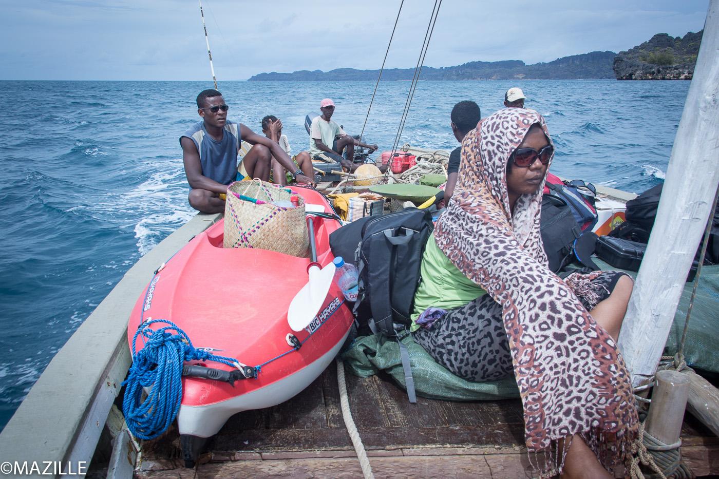 Traversée par l'entrée du canal du Mozambique