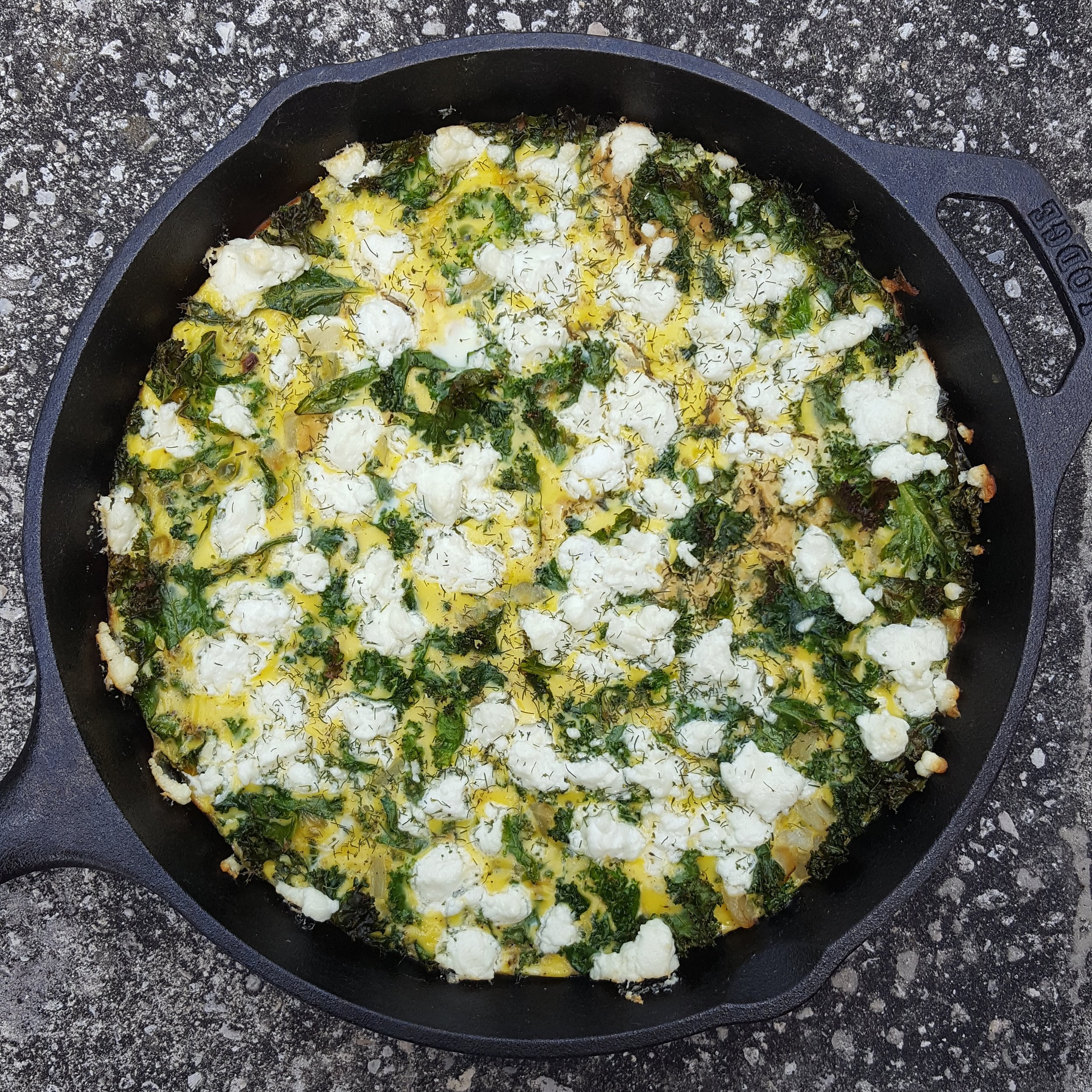That's A Keeper 7 - Kale Goat Cheese Frittata.jpg