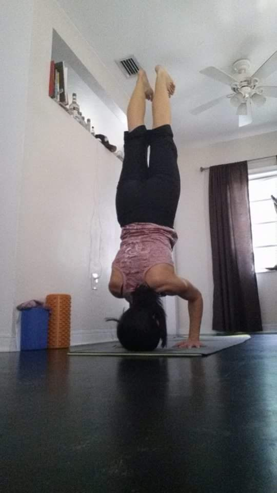 Lots of practice and lots of breath work to finally be able to do a headstand!