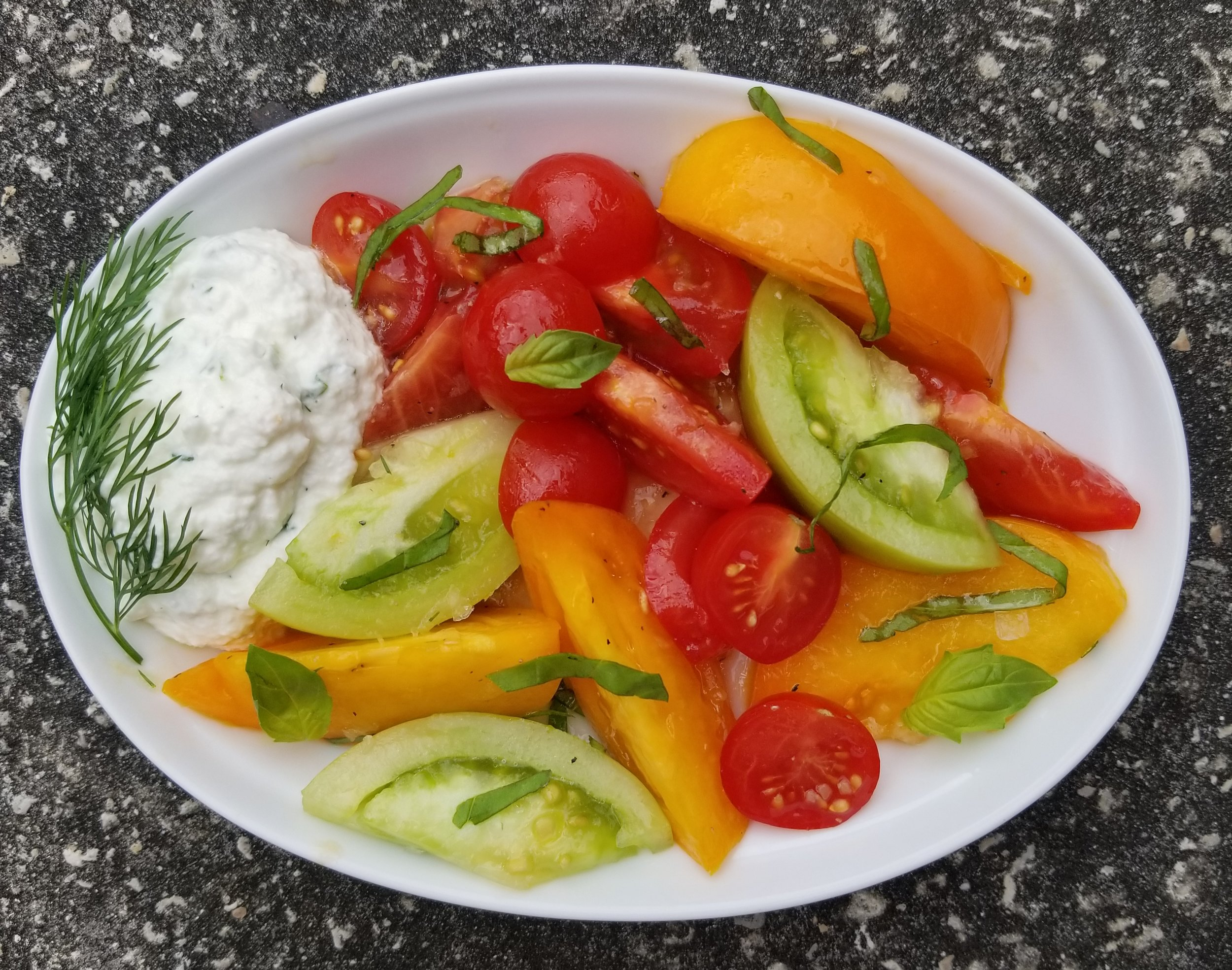 Tomato Salad with Homemade RIcotta