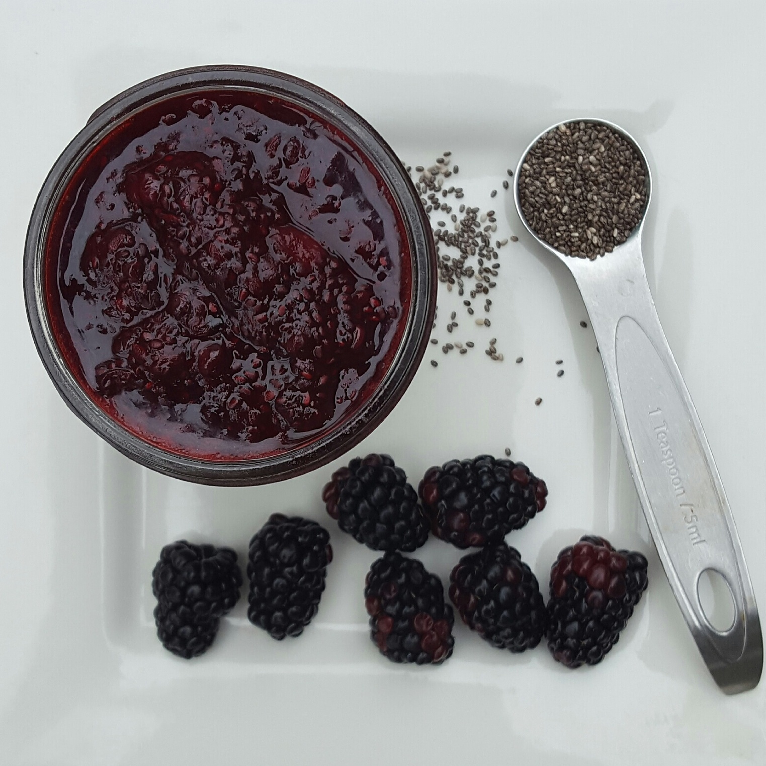 Voilá. Easy chia jam with any fruit. No need to buy store bought jam anymore!