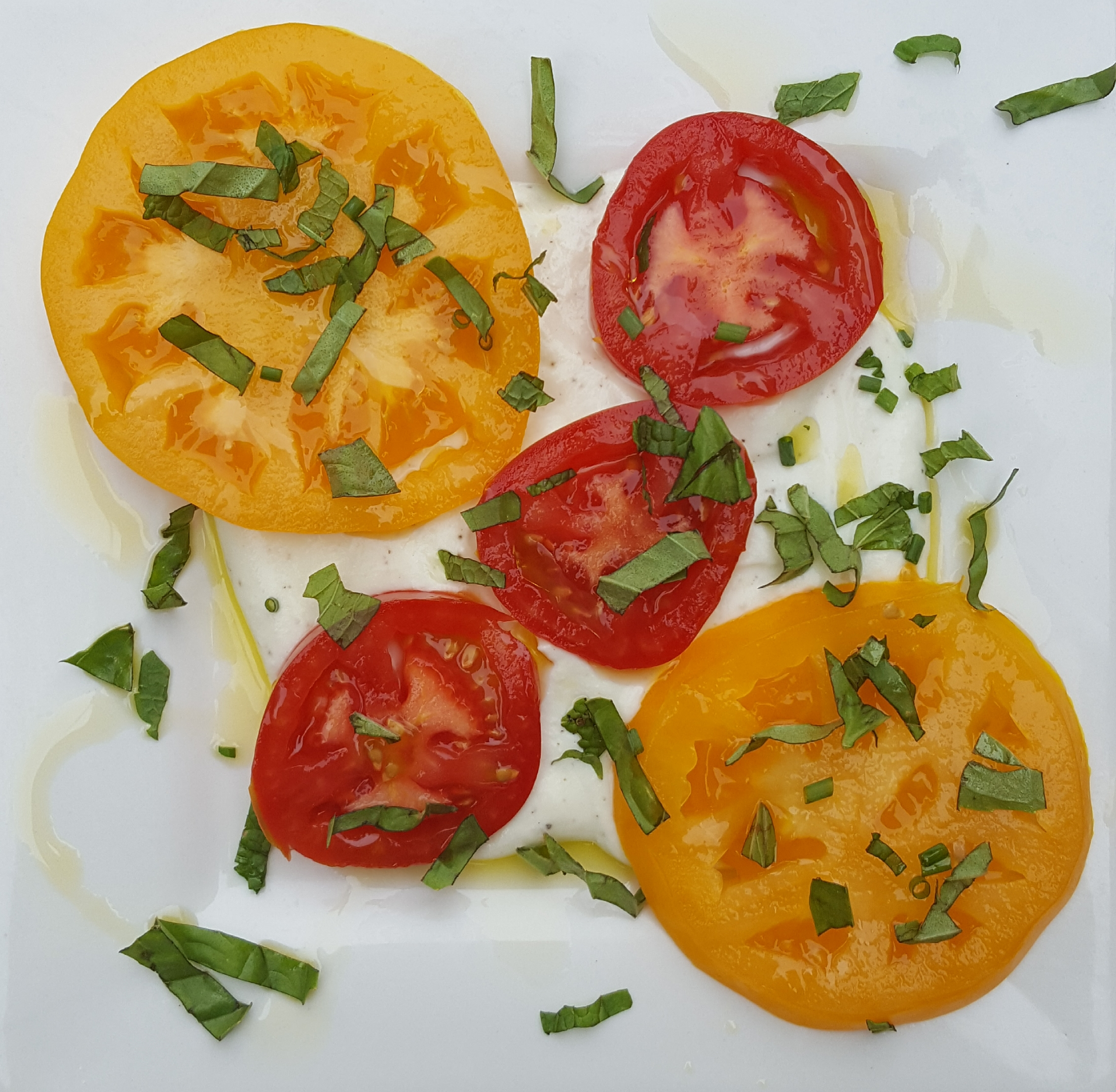 A little bit of this and a little bit of that - Heirloom Tomatoes with Herbs.jpg