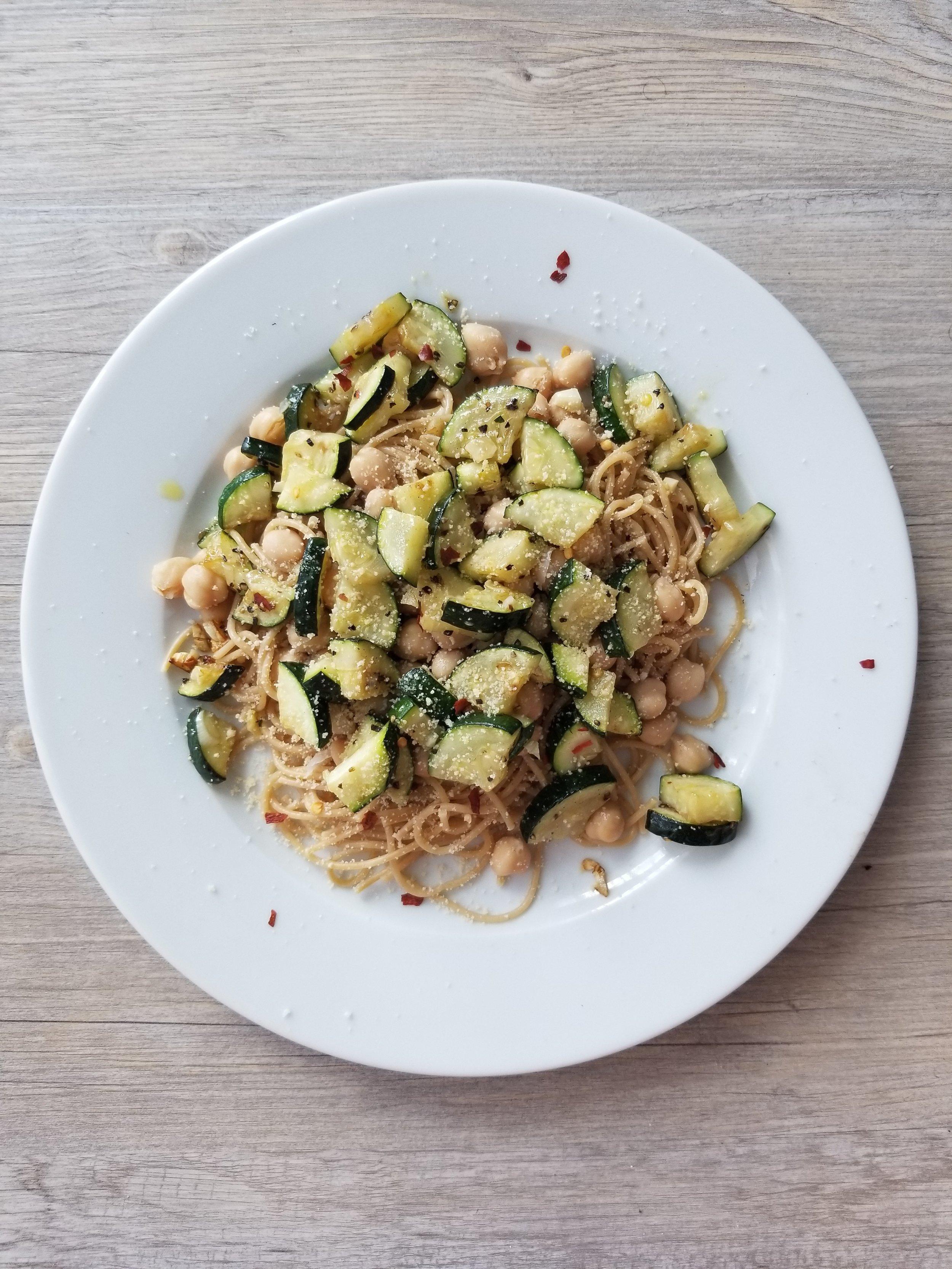 Meatless Monday - Chickpeas Zucchini Pasta.jpg