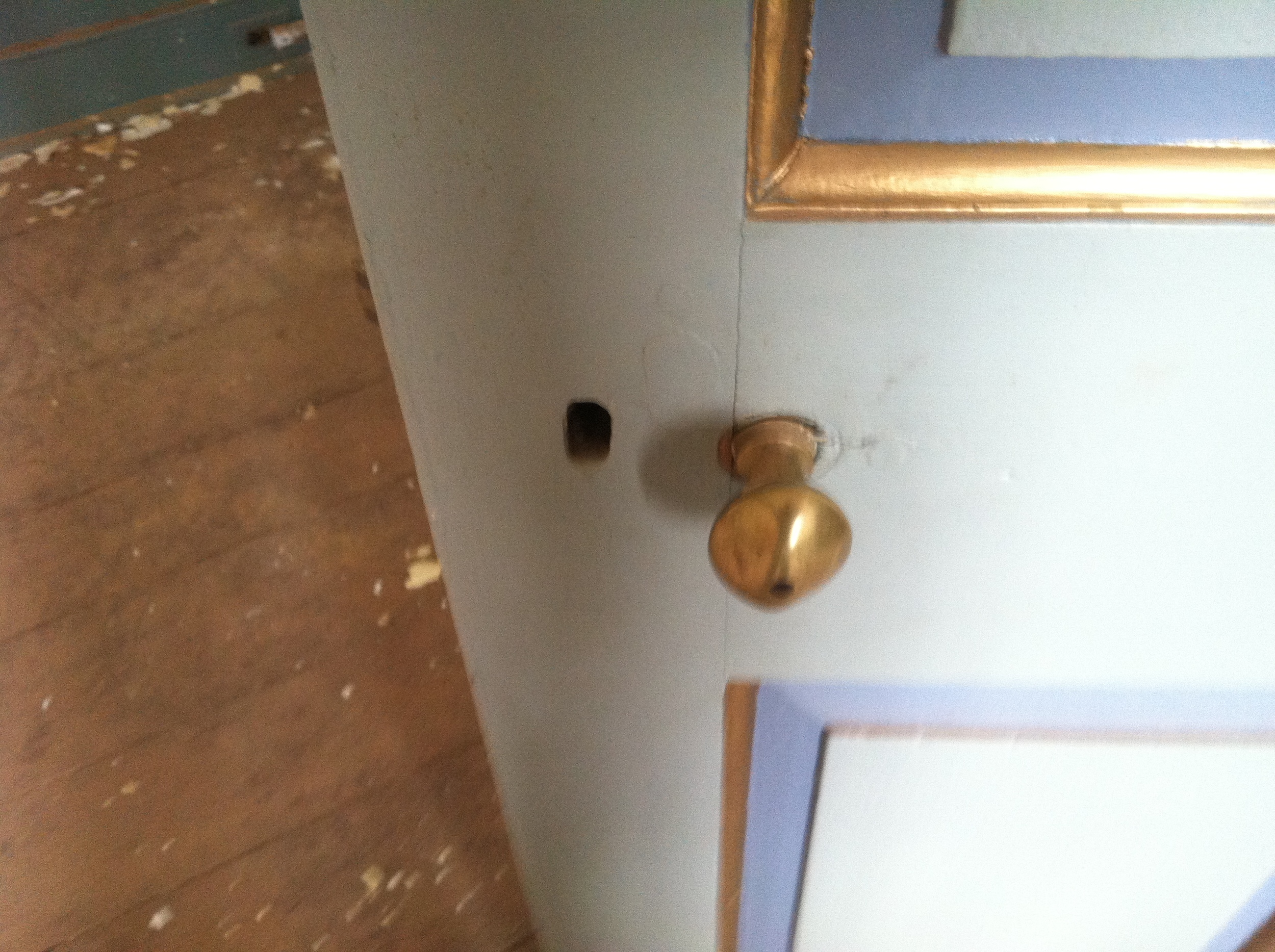 Yup!  The original doorknob from an earlier time when George Washington turned it to gain access to his quarters.
