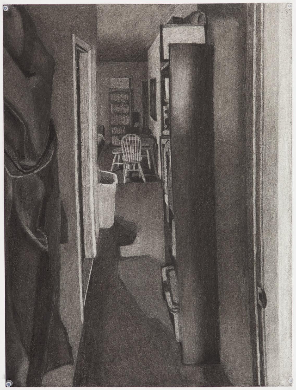 View of Hallway from Bedroom Door