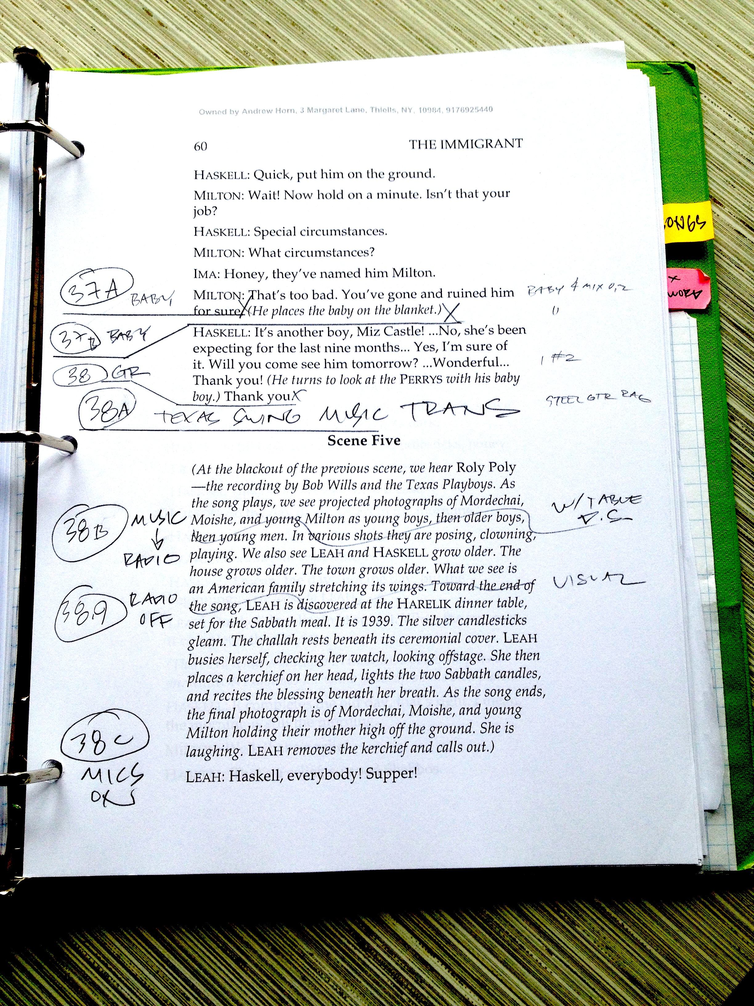 Random page with sound cues.