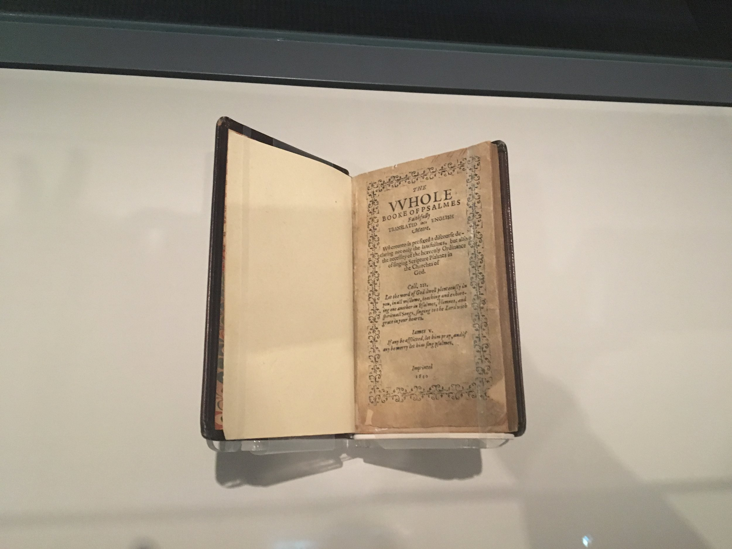 1640 Bay Psalm Book, considered America's first hymnal