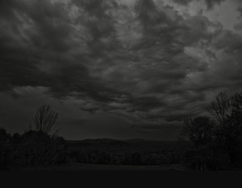 Fables ( nuit noire, vers le nord )  Épreuve à la gélatine argentique  41 x 51 cm