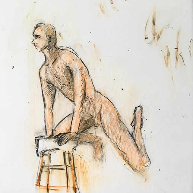 #lifedrawing #sketch #croquiscafe #oilpastel #artwork