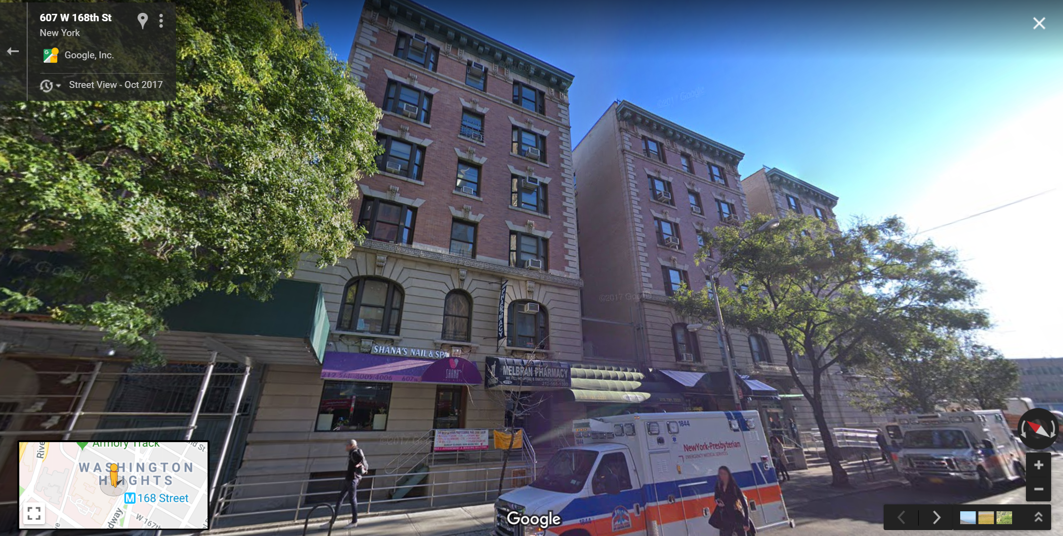 It's 601-607 W 168th Street!