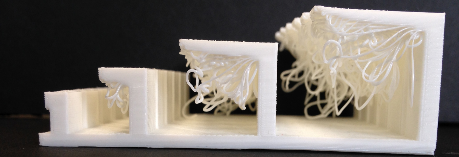 When there's no material to support a new layer, the results can be quite… stringy.