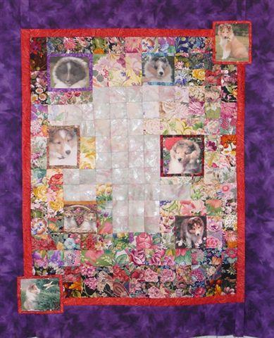 Puppy Flower Quilt.JPG