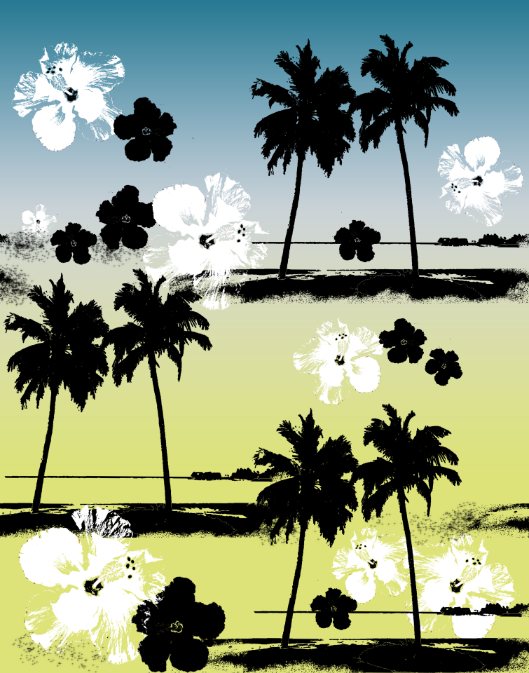 BLUE YELLOW HAWAII PALMTREES.png