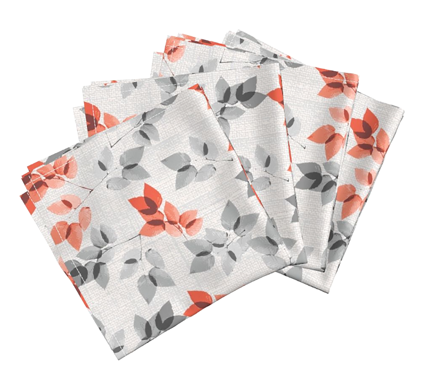 """Mayumi Leaves"" print on the Amarela dinner napkin (set of 4)    https://roostery.com/e?user=rachelle_caliolio_design"