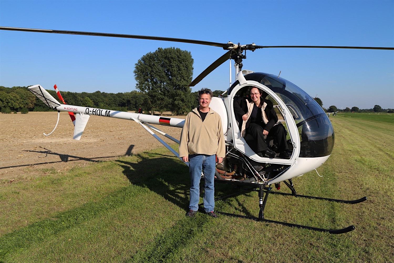 Die Hughes 300 D-HOLM auf einem Ausflug