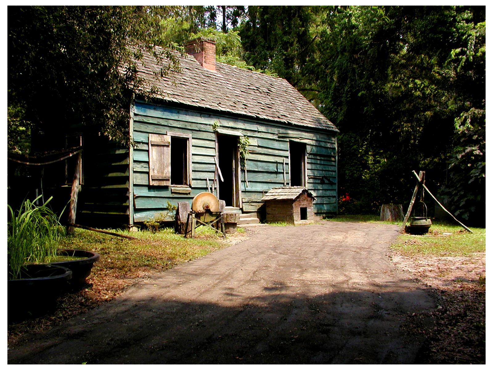 Slave Quarter Museum at Magnolia Gardens, South Carolina
