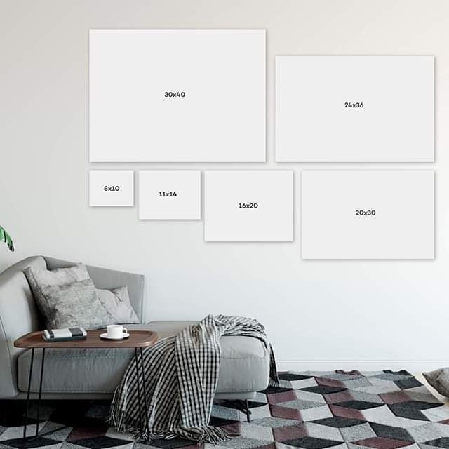 I ✨love✨ showing clients the possibilities of wall art in their livingroom and nursery!