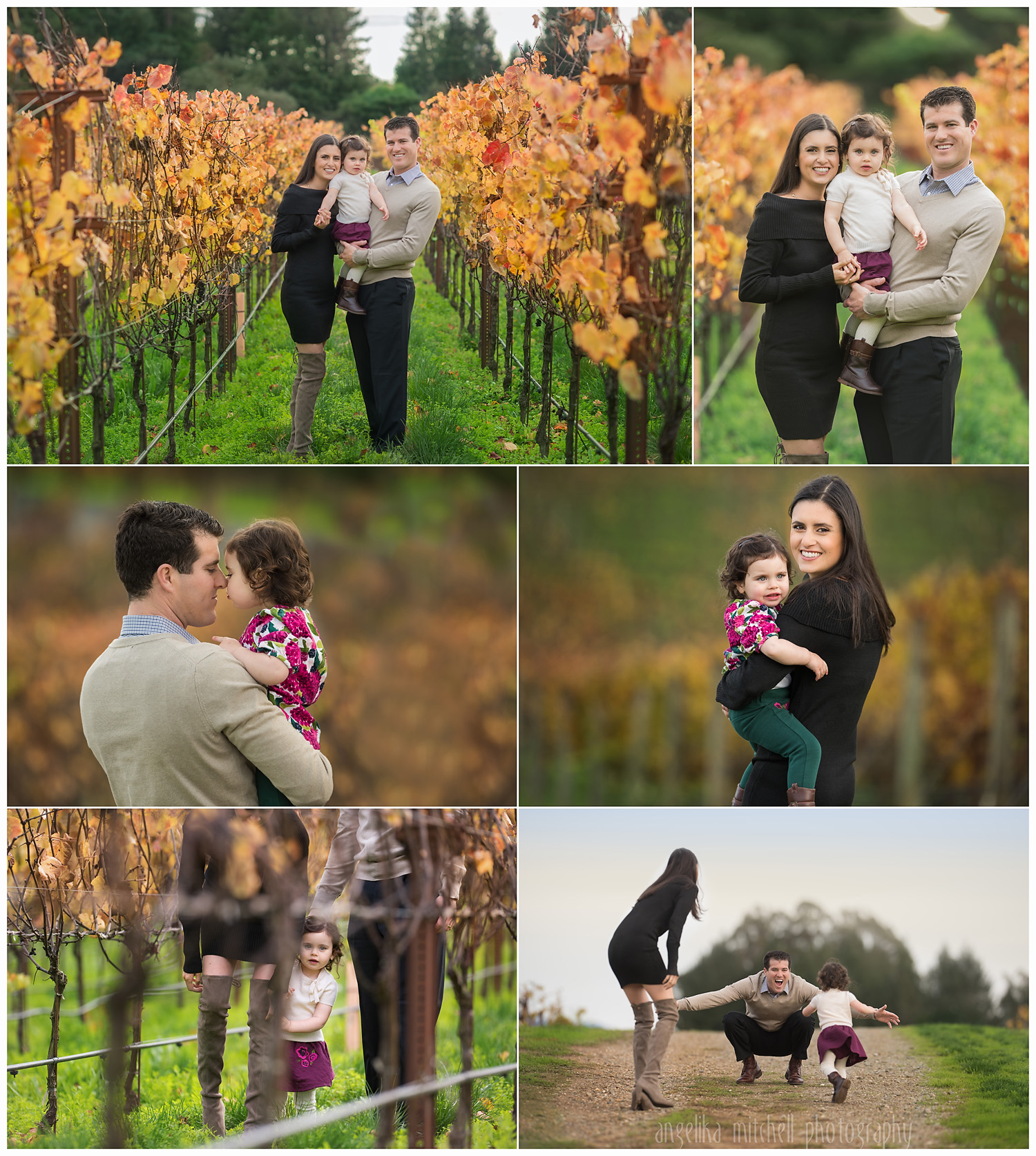 Sonoma County Vineyard Family Photos- Angelika Mitchell Photography