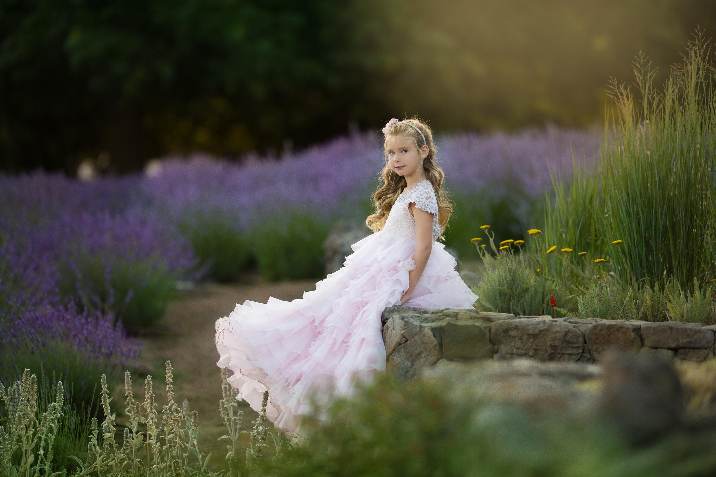 portrait in lavender field