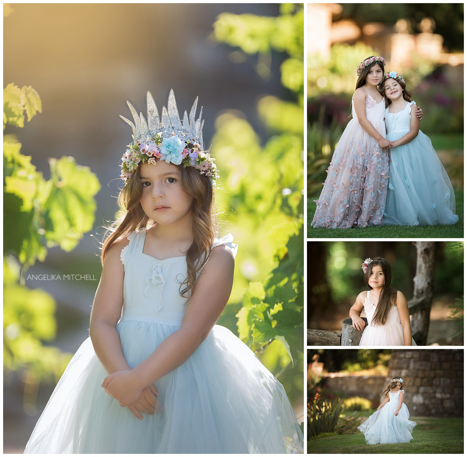 Sonoma County vineyard princess photo shoot
