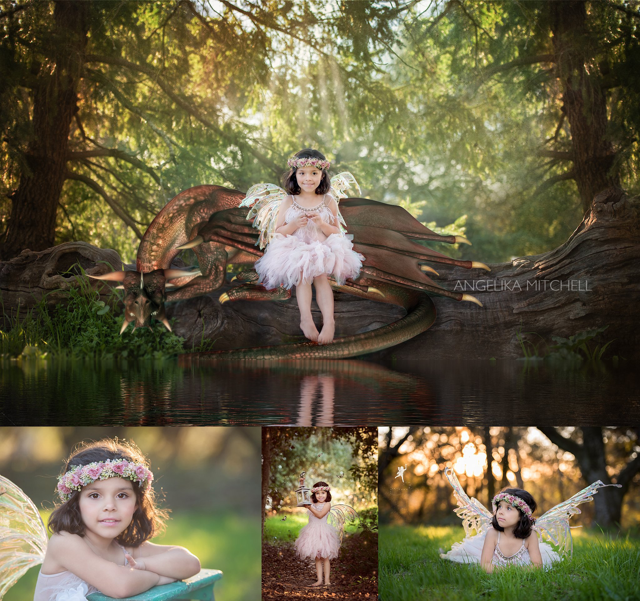 Dragon and girl photo- child photographer angelika mitchell