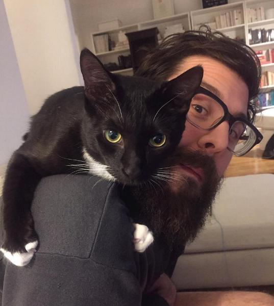 Photo: Wyatt on Brandon's shoulder.