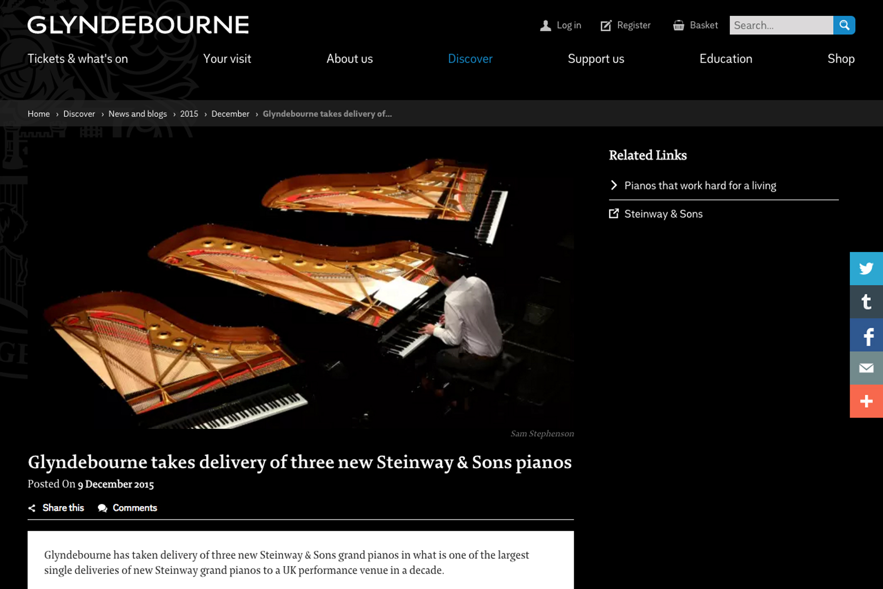 Glyndebourne website.