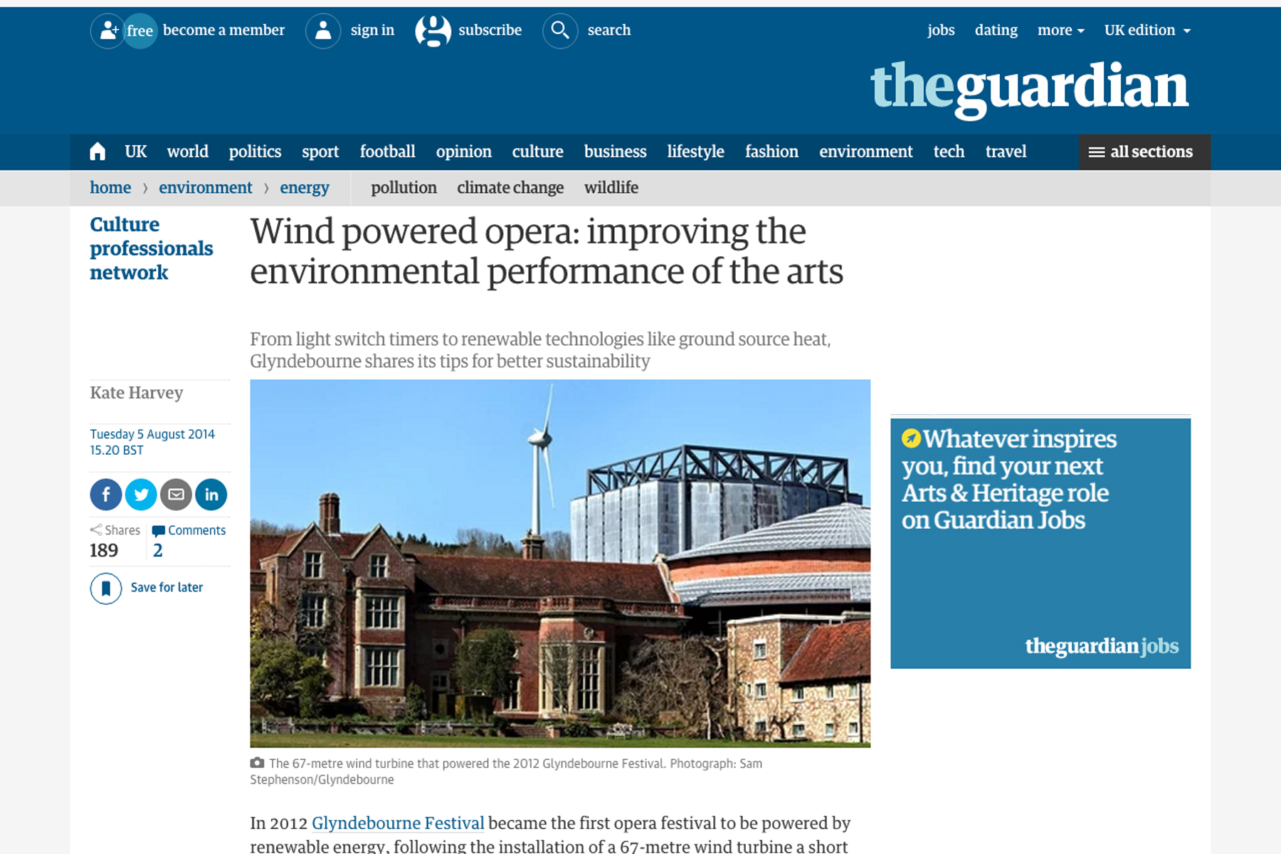 The Guardian website.
