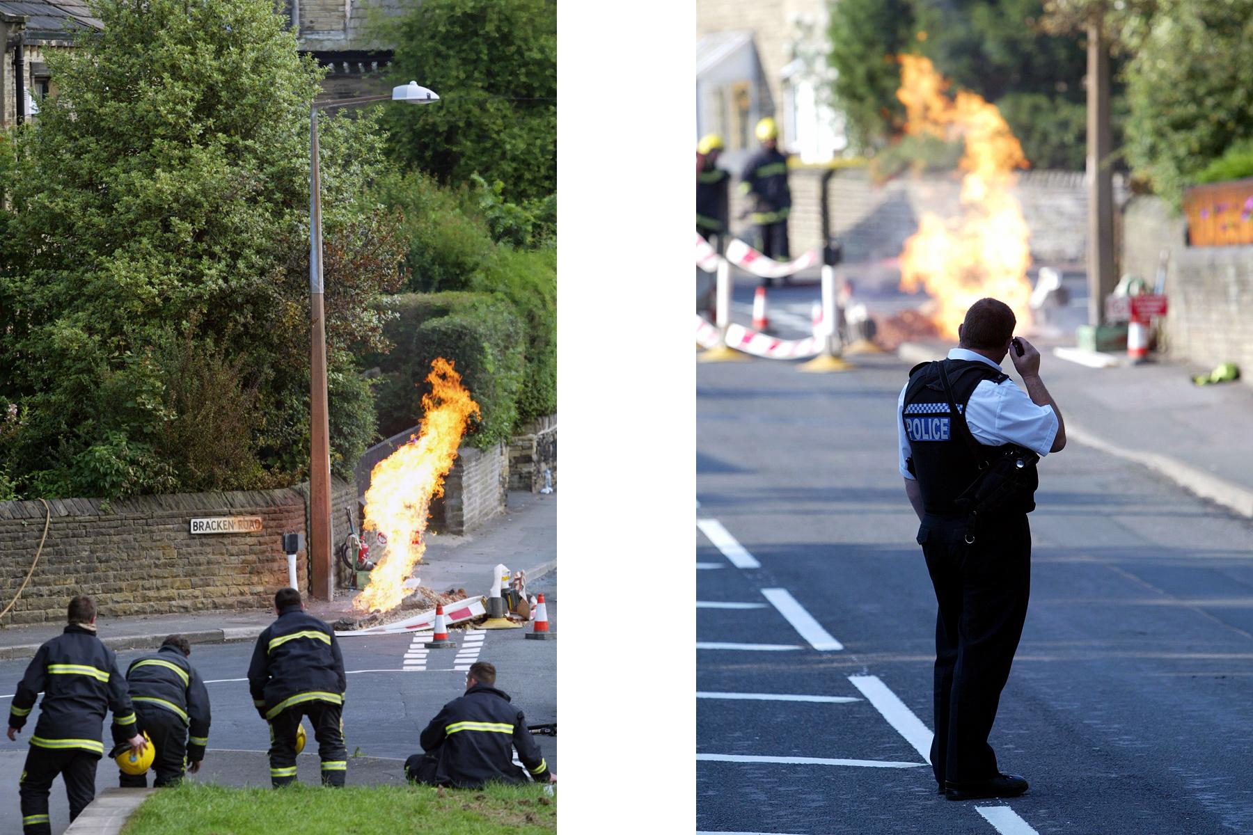 Gas fire, Halifax.