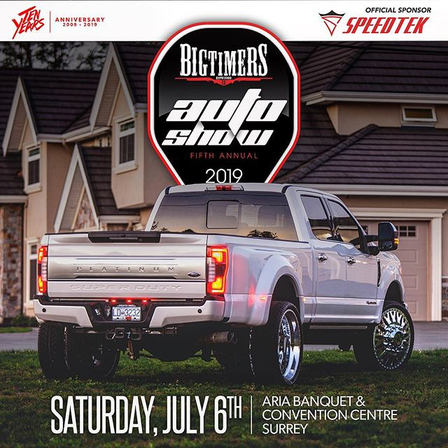The Fifth Annual Bigtimers CC Annual Auto Show presented by @speedtekwheel is coming up on Saturday, July 6th showcasing the best lowriders, muscle cars, imports, lifted trucks, exotics, motorcycles and much more.  This years show will be held at @ariabanquet and convention centre in #surrey B.C.  Visit www.bigtimerscc.com for more information and details about the event and how to be a sponsor or vendor at the show.  @bigtimerscc @bigtimers_rav @shutterboxstudios @speedtekwheel @ariabanquet @djhypnotiq604 @f7lthy @bestchoicecollision @lowriderscenemagazine  #lowriders #carshowlifestyle #bigtimerscc #bigtimersautoshow #bigtimerscc #carshow #carshowseason #impala #musclecars #liftedtrucks #import #motorcycles #lowriderbikes #chrome #vancouvercars #vancouvercarspotting #customcars #vancouvercarshow