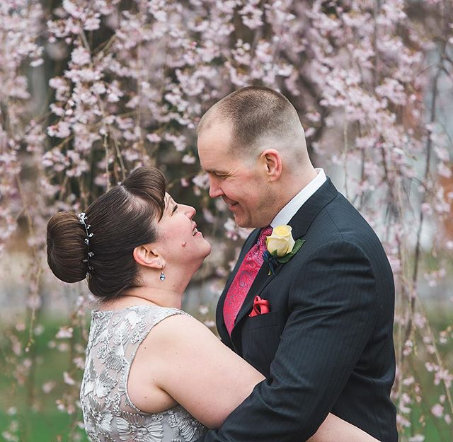 These two had a beautiful spring time elopement.