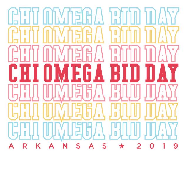 Chi Omega Bid Day 2019