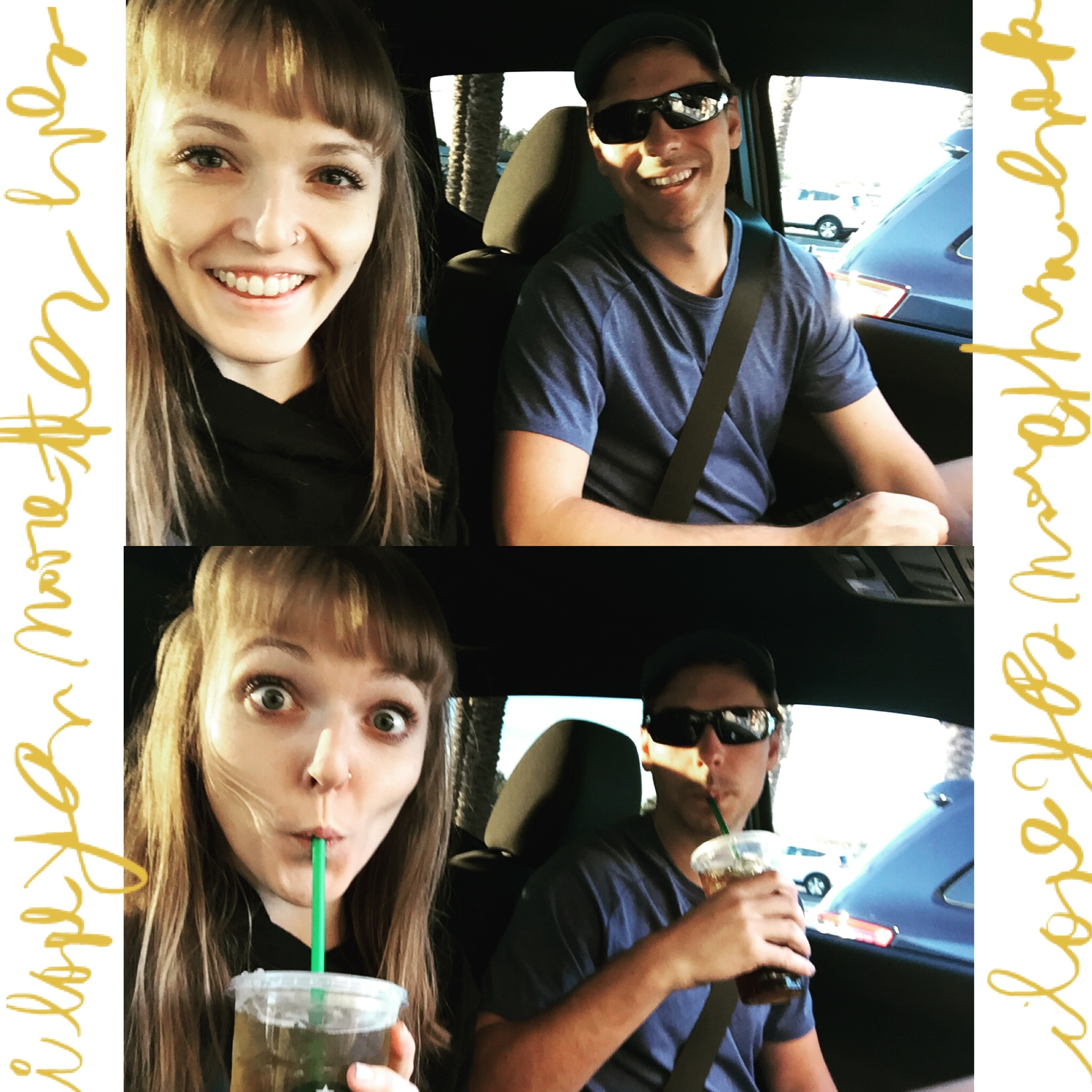 I love you more than ever | Onward to Tucson, AZ with our necessary morning vices in hand