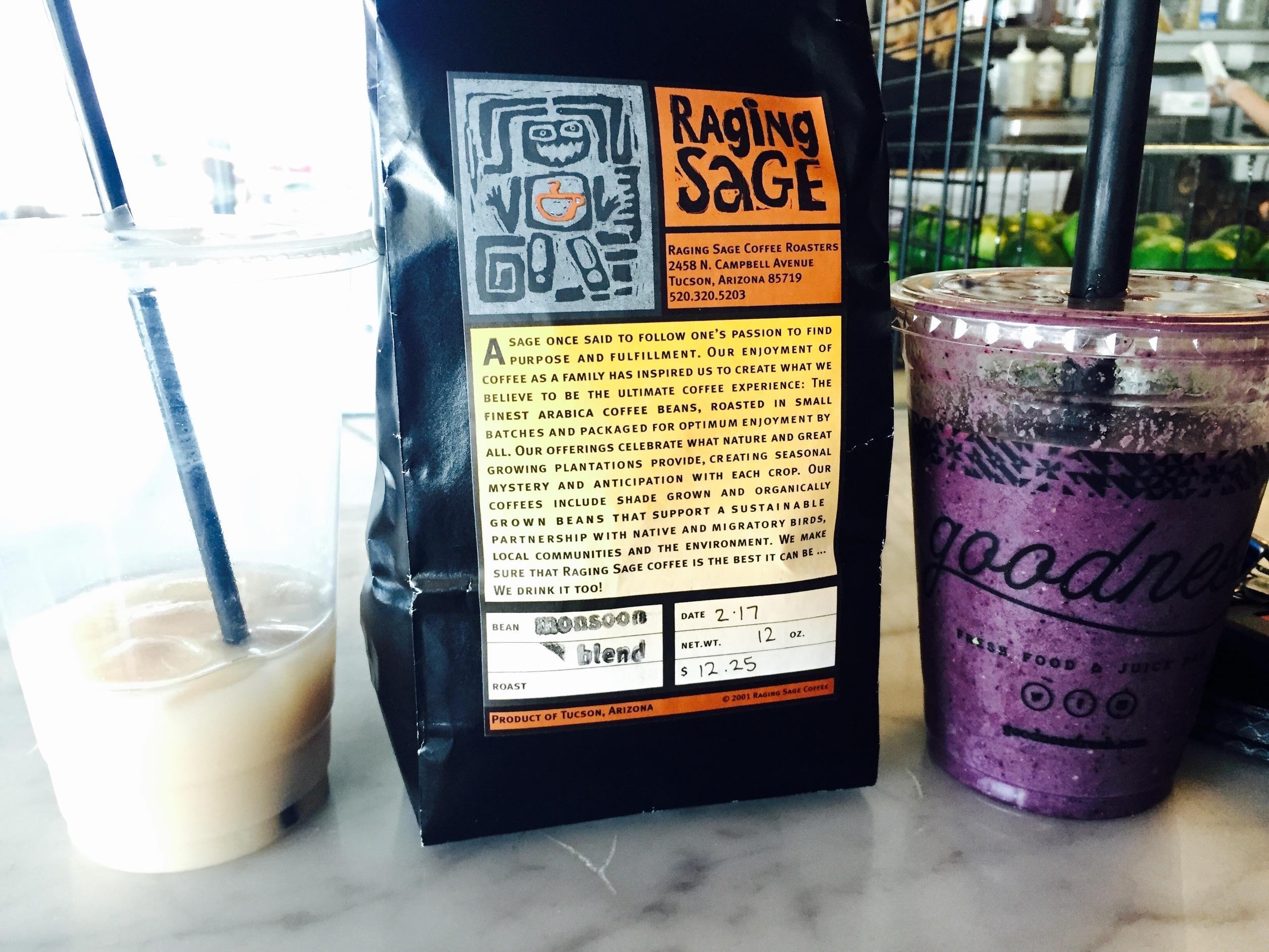 Raging Sage homemade chai tea latte | Raging Sage Monsoon Blend | The Goods smoothie