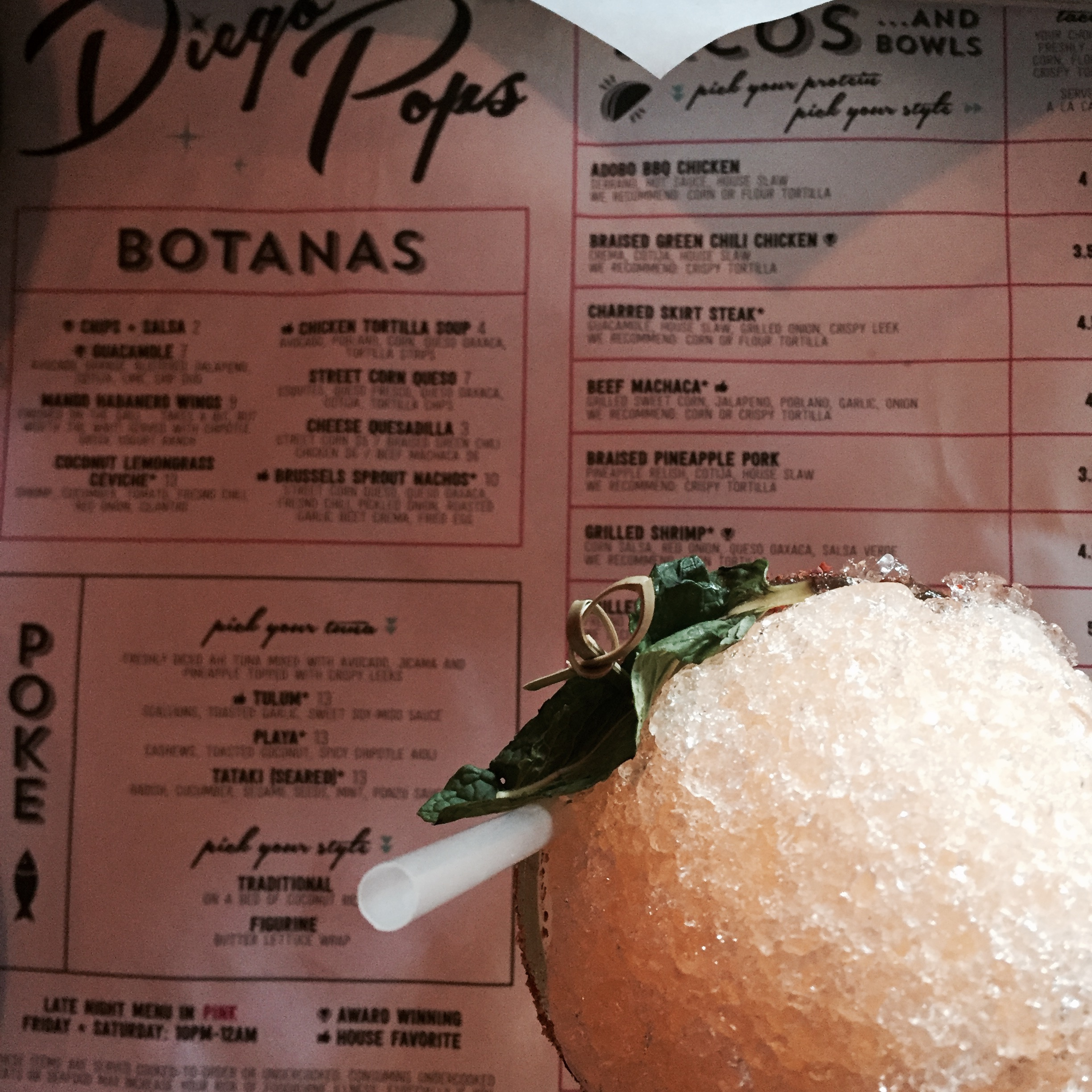 Snow Cone Margarita for one please! | Diego Pops