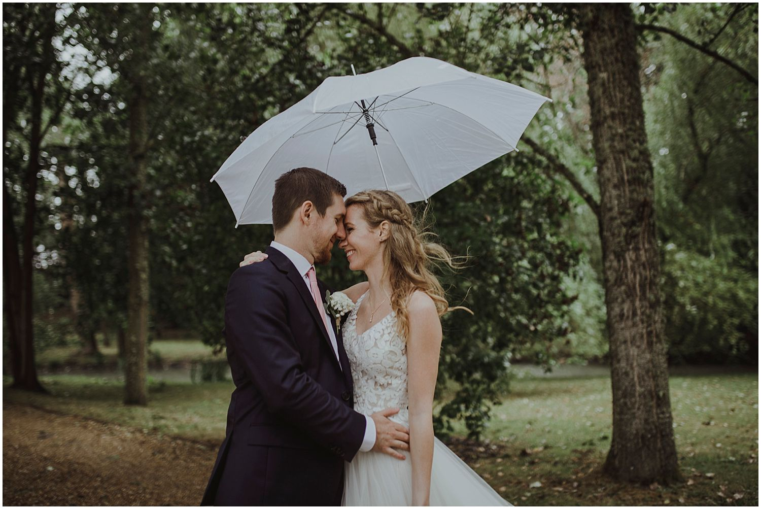 Vikki: Catherine's (makeup artist) did a great job and we loved our natural makeup which stayed in place for the whole reception, even with the rain! Our hair was done by Catherine and her colleague Poppy.