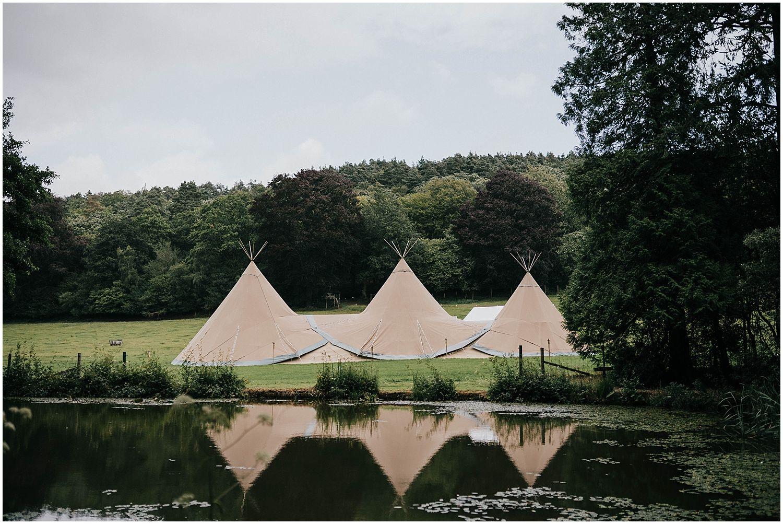 Coverwood Lakes Tipi wedding photo