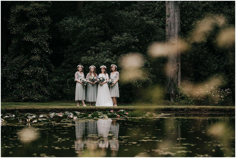 Coverwood Lakes Tipi wedding bridesmaids