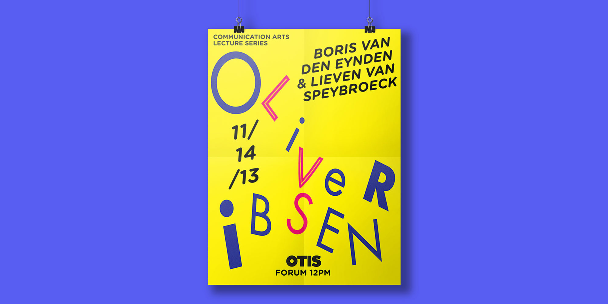 Poster for visiting Artist Lecture series: Oliver Ibsen